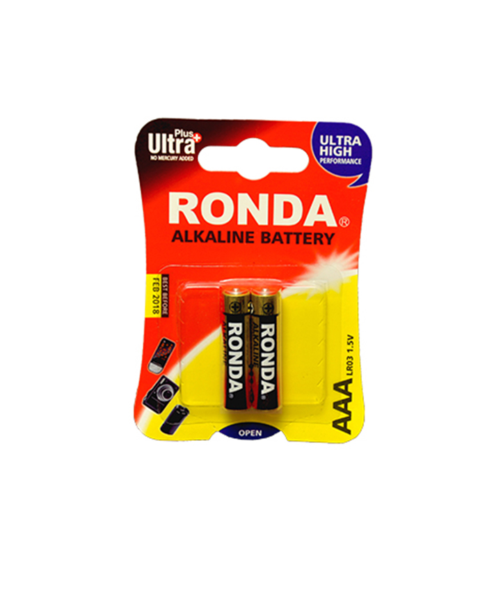 باتری نیم قلمی آلکالاین روندا