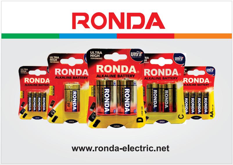 باتری های آلکالاین روندا